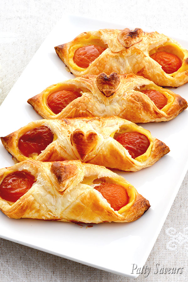 Apricot and Vanilla Pastries pinterest
