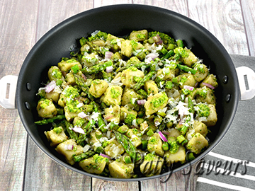 Artichoke Gnocchi with Green Asparagus