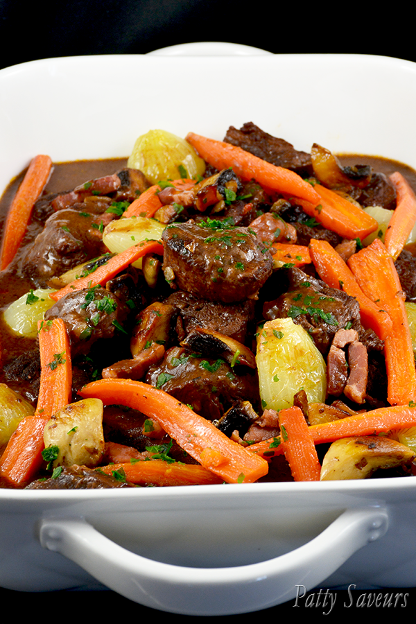 Boeuf Bourguignon au Four Pinterest