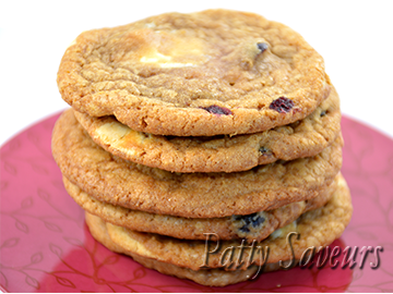 Cranberry White Chocolate Chips Cookies small