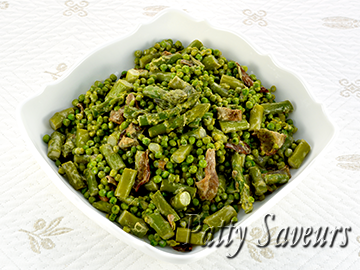 Green Peas and Asparagus Recipe small