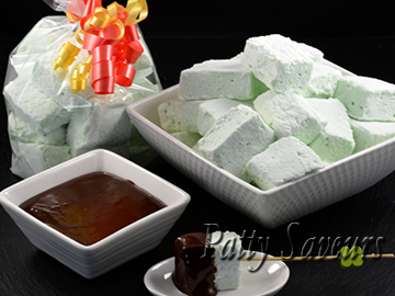 Homemade mint marshmallows small