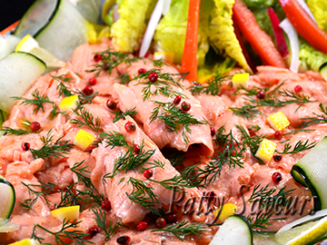 Lemon Marinated Salmon Carpaccio