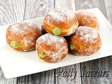 Matcha  Pastry Cream Filled Donuts