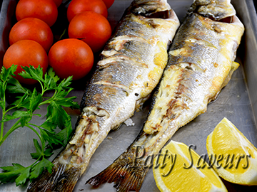 Oven Broiled Whole Sea Bass - Whole Fish small