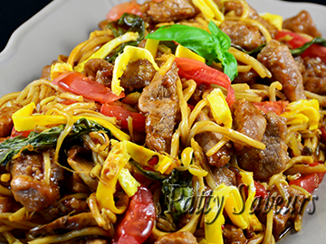 Pancit Canton Noodles Pork and Veggies Stir Fry small
