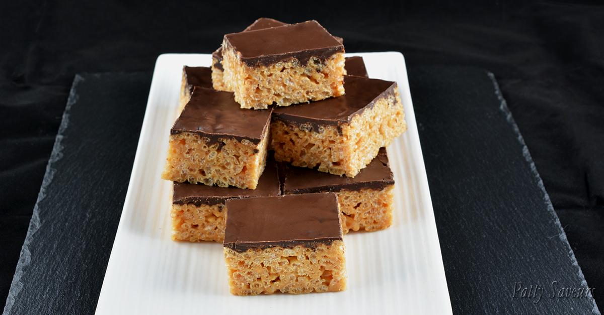 Patty Saveurs | Peanut Butter Rice Krispies Squares