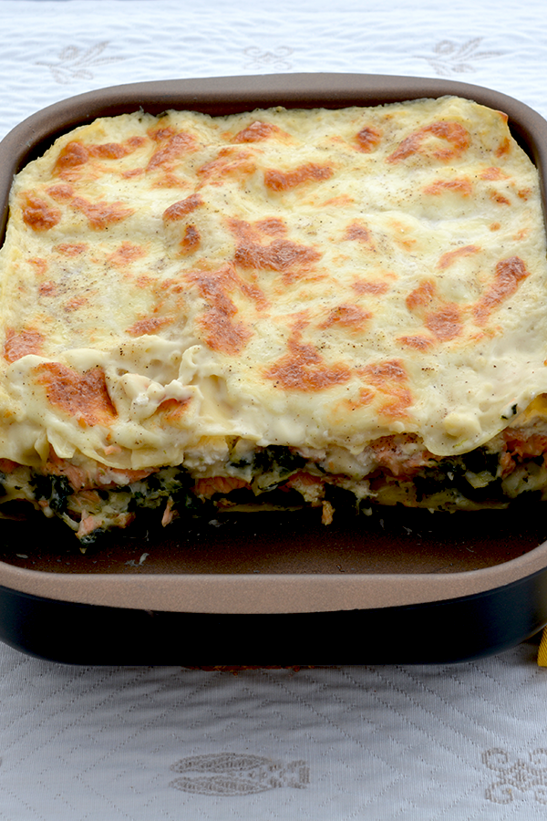 Salmon Lasagna with Spinach Pinterest