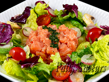 Salmon Tartar Over Mixed Salad small