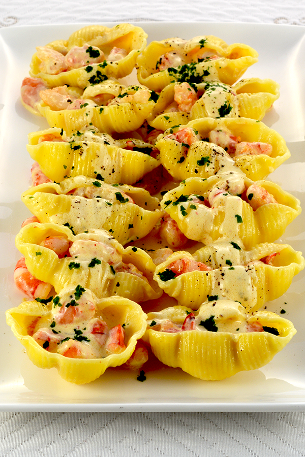 Shrimp Newberg Stuffed Shells Pinterest