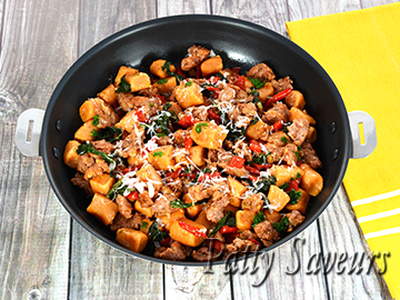 Sweet Potato Gnocchi and Italian Sausage small